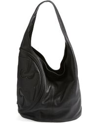 Tory Burch All T Logo Leather Hobo - Lyst