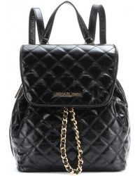 MICHAEL Michael Kors Susannah Quilted Leather Backpack - Lyst