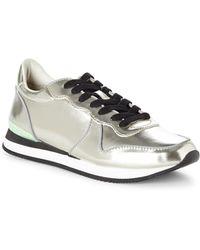 Steve Madden Silver Trackk Sneakers - Lyst