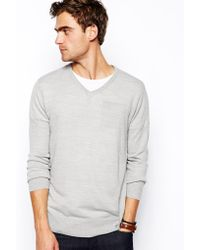 Brave Soul Lightweight V Neck Sweater - Lyst
