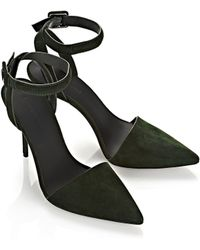 Alexander Wang Lovisa Suede Court Shoes - Green