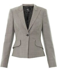 McQ by Alexander McQueen Bustle-Back Houndstooth Jacket - Lyst