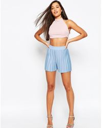 ASOS Jersey Pleated Culotte - Blue