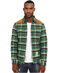 DSquared² Western Mix Jacket Shirt green - Lyst