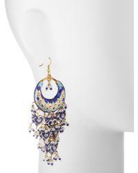Chamak by Priya Kakkar - Half-moon Chandelier Earrings - Lyst