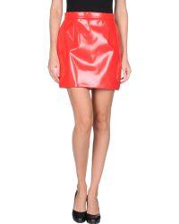 Miu Miu Red Mini Skirt - Lyst