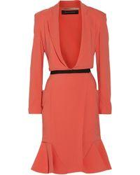 Roland Mouret Orange Crepe Dress - Lyst
