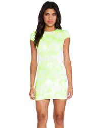 Dress the Population Sabrina Mini Dress - Lyst