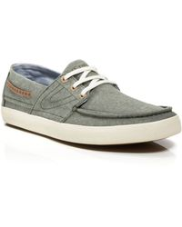 Tretorn - Otto Chambray Boat Shoe Trainers - Lyst