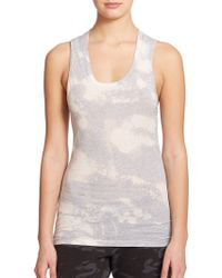 Monrow Printed Muscle Tank Top - Lyst