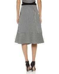 Line & Dot | Chrome Skirt - Tiny Stripe | Lyst