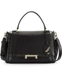 Diane Von Furstenberg 440 Courier Leather Satchel Bag - Lyst
