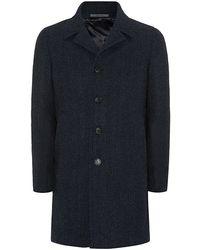 Harrods - Single-breasted Flecked Wool Coat - Lyst