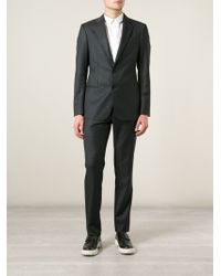 Giorgio Armani Polka Dot Print Suit black - Lyst