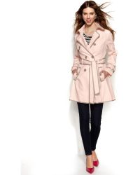 Betsey Johnson - Doublebreasted Corsetback Trench Coat - Lyst
