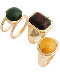 Topshop | Stone Rings | Lyst