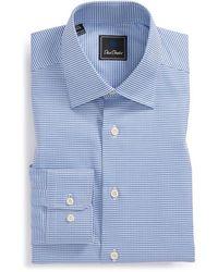 David Donahue Regular Fit Houndstooth Dress Shirt - Lyst