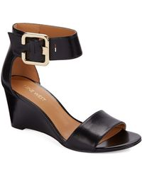 Nine West Narcissus Leather Wedge Sandals - Lyst