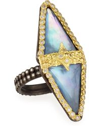 Armenta - Old World Double-triangle Triplet Diamond Ring - Lyst