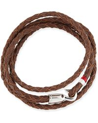 Miansai Braided Leather Bracelet - Lyst