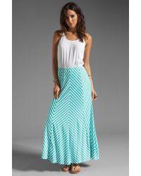 Ella Moss Lila Stripe Skirt Maxi - Green