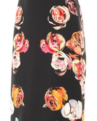 Honor Floral-print Crepe Skirt - Lyst
