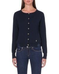 Juicy Couture Knitted Sheer Cardigan - Lyst
