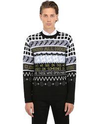 Kenzo Printed Wool Blend Sweater - Lyst