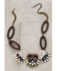Anthropologie Blue Marika Necklace - Lyst