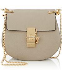 purses chloe - Chlo�� Drew Mini Leather Cross-body Bag in Gray (GREY) | Lyst