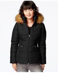 Krush Faux-fur-hood Puffer Jacket - Black