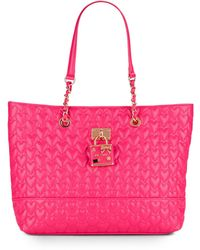 Betsey Johnson - Be My Baby Quilted Heart Tote - Lyst