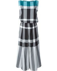Issey Miyake Lucid Check Jumpsuit gray - Lyst