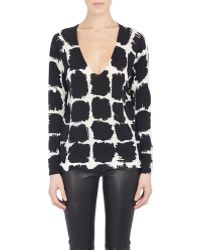 Balenciaga Brushstroke Geometric-Print Sweater multicolor - Lyst