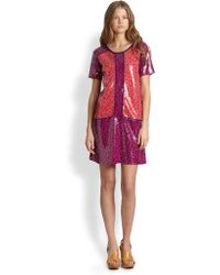 Marc By Marc Jacobs Viola Printed Sequin Dress - Lyst