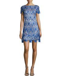 Jax Lace Short-Sleeve Sheath Dress - Lyst