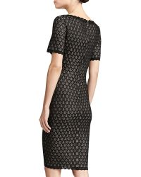 St. John Collection Layered Lace Knit Dress - Lyst