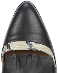 Thakoon Addition - Black Leather Cut-Out Brogues - Lyst