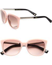 Dior Braided Oversized Square Acetate Sunglasses - Lyst
