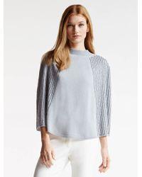 Halston | Embellished Sweater Poncho | Lyst