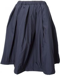 Comme Des Garçons Quilted Drawstring Skirt Navy - Lyst
