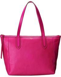 Fossil Pink Sydney Shopper - Lyst
