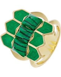 House of Harlow 1960 Sugarloaf Ring - Green