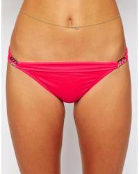 Ginja By Baku - Solid Shimmer Slide Bikini Bottom - Lyst