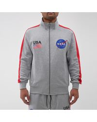 Hudson Jeans The Meatball Space Track Jacket - Gray