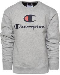 Champion - Powerblend Big Logo Crew - Lyst