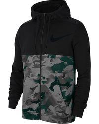 Nike Lightweight Camo Full Zip Hoodie - Black