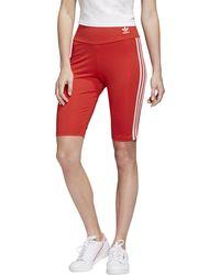 adidas Originals Adicolor Biker Shorts - Red
