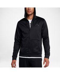 6d4cf225 Nike Dry 23 Alpha Training Hooded Long Sleeve Shirt in Black for Men ...