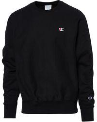Champion Reverse Weave Long Sleeve Crew - Black